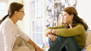 listening-mother-teen-girl Teenager