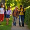 Children Walking Home from School --- Image by © Don Hammond/Design Pics/Corbis