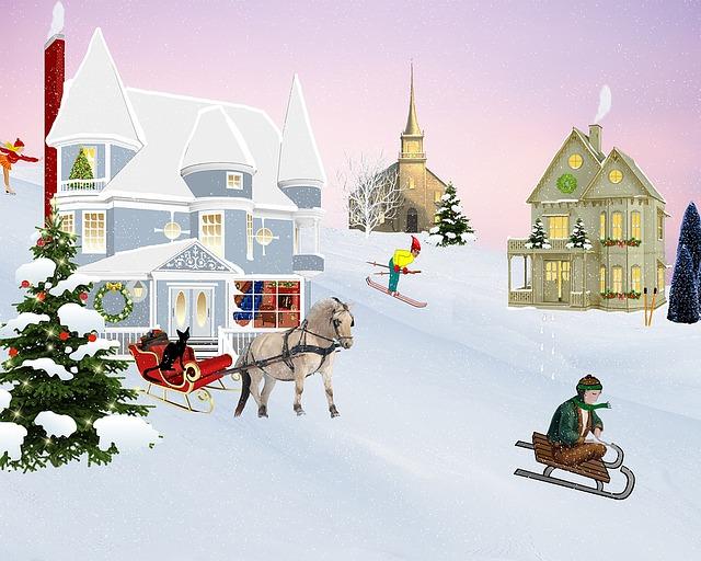 Kinderverse zur Weihnachtszeit, scene-1071331_640