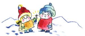 Spielideen für den Winter, Zeichnung Andrea König