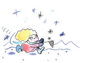 Spielideen für den Winter, schnehflockenfenger