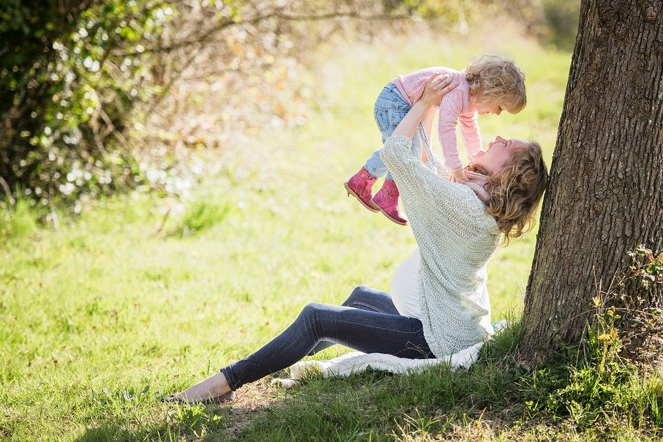 Familienglück - Mutter und Kind