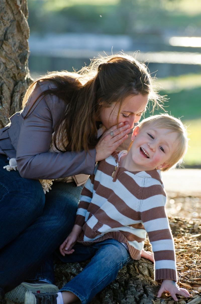 Eltern-Kind Kommunikation . Mutter und Kind
