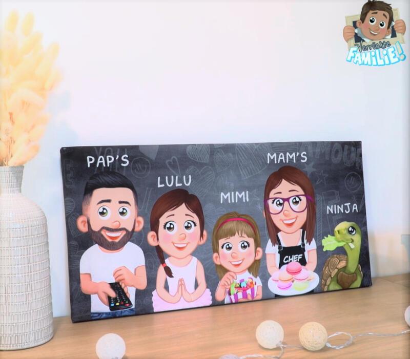 Familienportraits von Verrückte Familie_Leinwand2