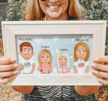 Familienportraits von Verrückte Familie