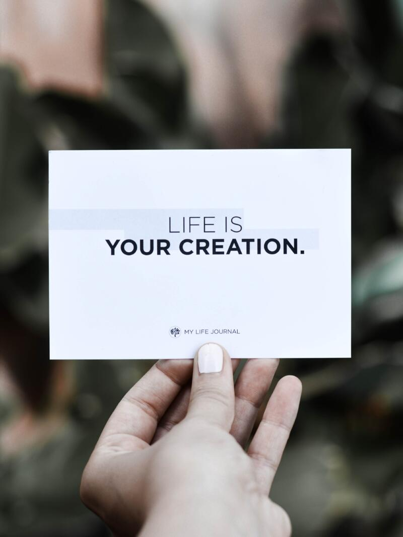 Quote - life is your creation