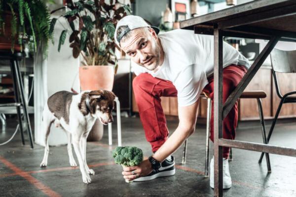 Anton mit Hund